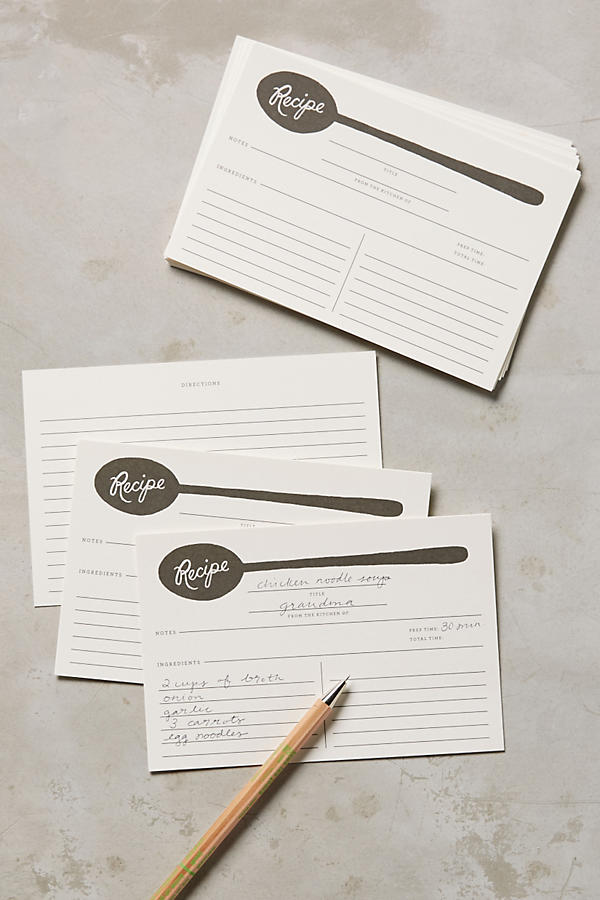 Slide View: 1: Soup Spoon Recipe Cards