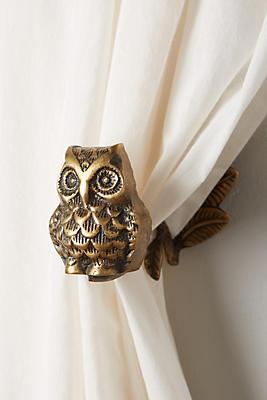 Slide View: 1: Wise Owl Tieback