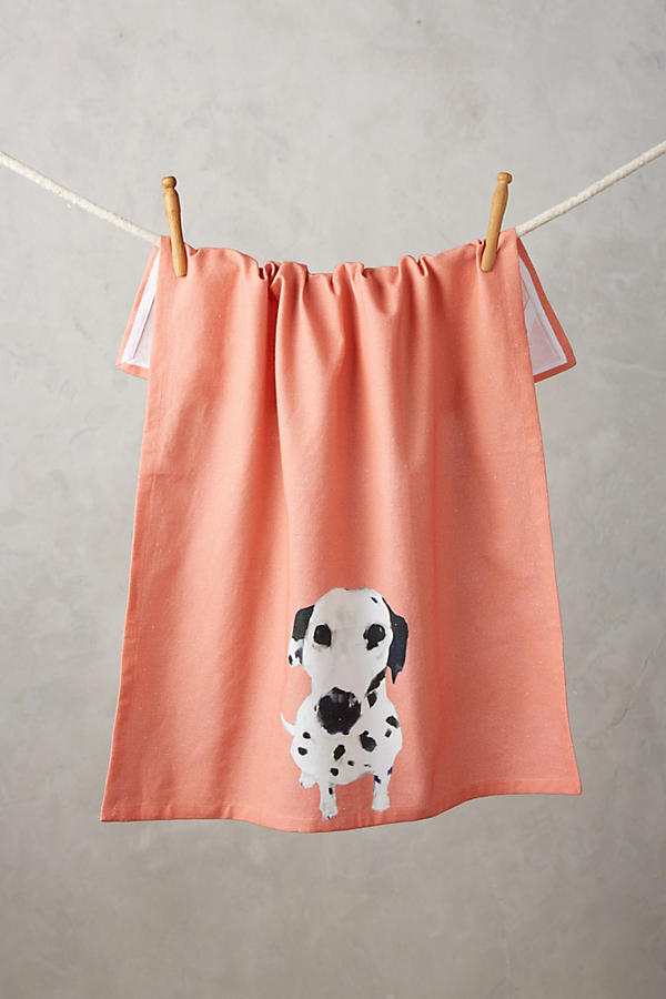 Slide View: 1: Dog-a-Day Tea Towel