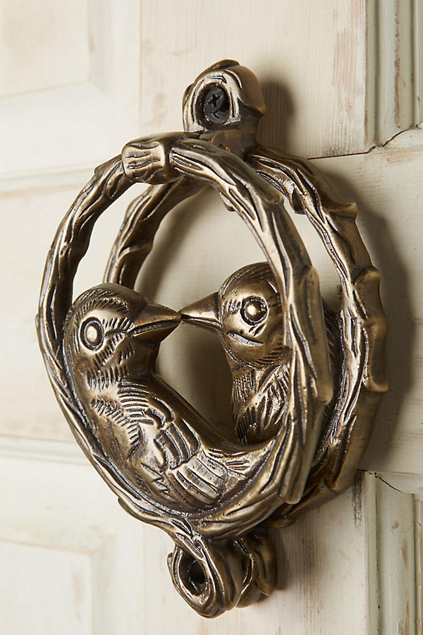 Slide View: 2: Of A Feather Door Knocker
