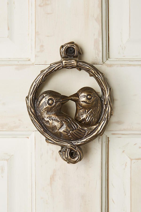 Slide View: 1: Of A Feather Door Knocker