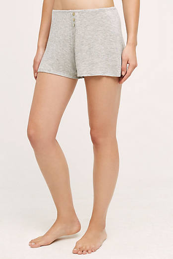 Heathered Knit Sleep Shorts
