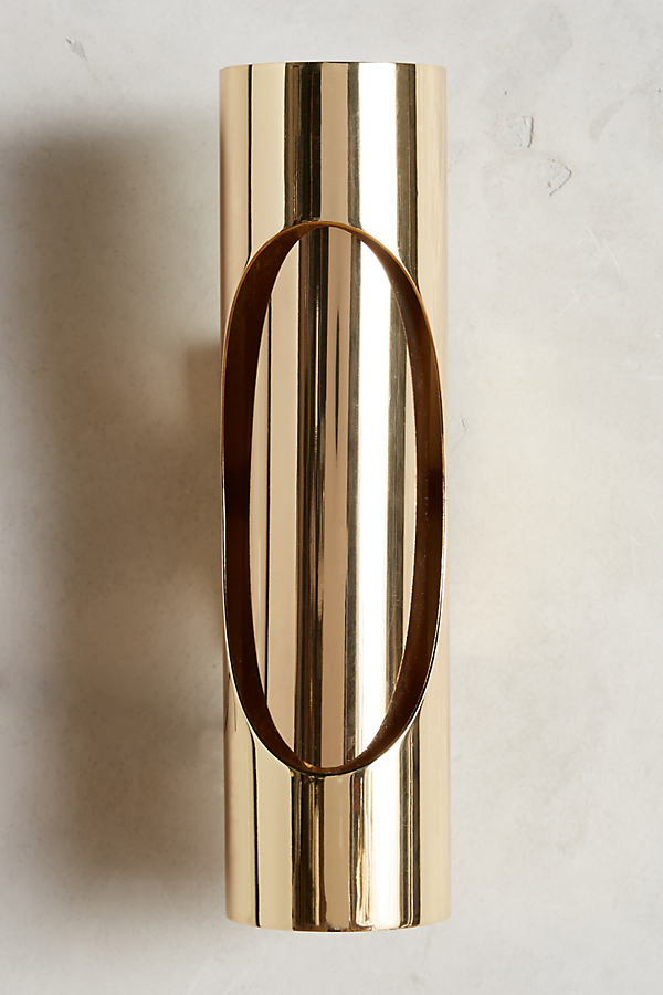 Brass Ellipse Sconce - Bronze
