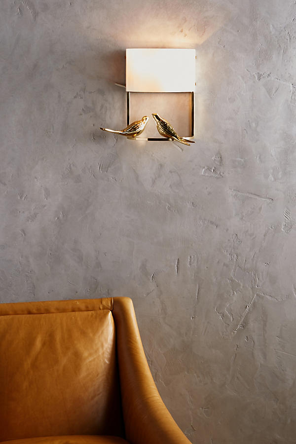 Slide View: 2: Golden Perch Sconce