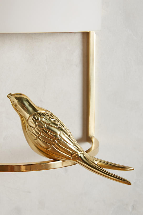 Slide View: 4: Golden Perch Sconce