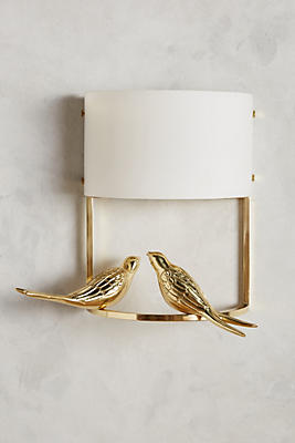 Slide View: 1: Golden Perch Sconce