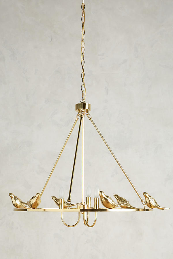 Golden perch chandelier anthropologie tap image to zoom aloadofball Gallery