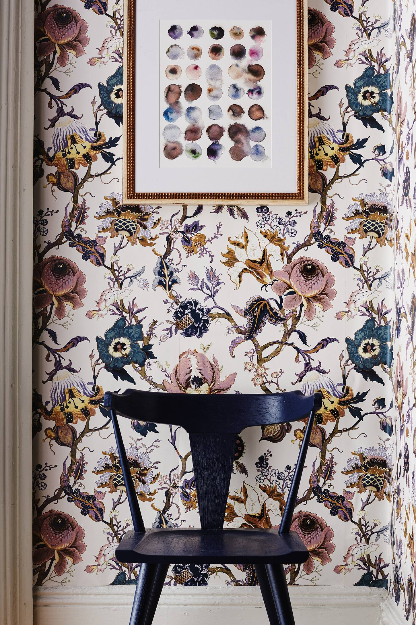 Artemis wallpaper anthropologie for Bird wallpaper home decor