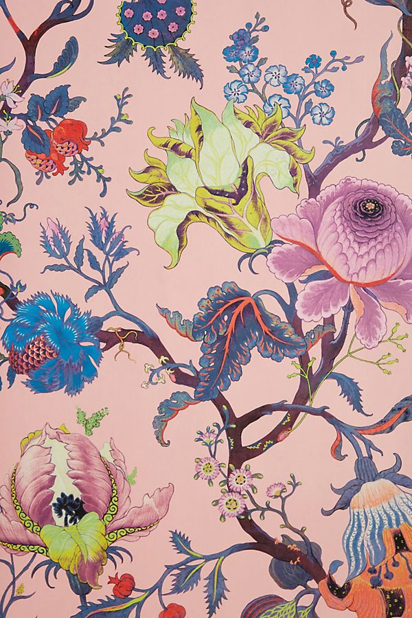 Anthropologie, floral, Artemis Wallpaper