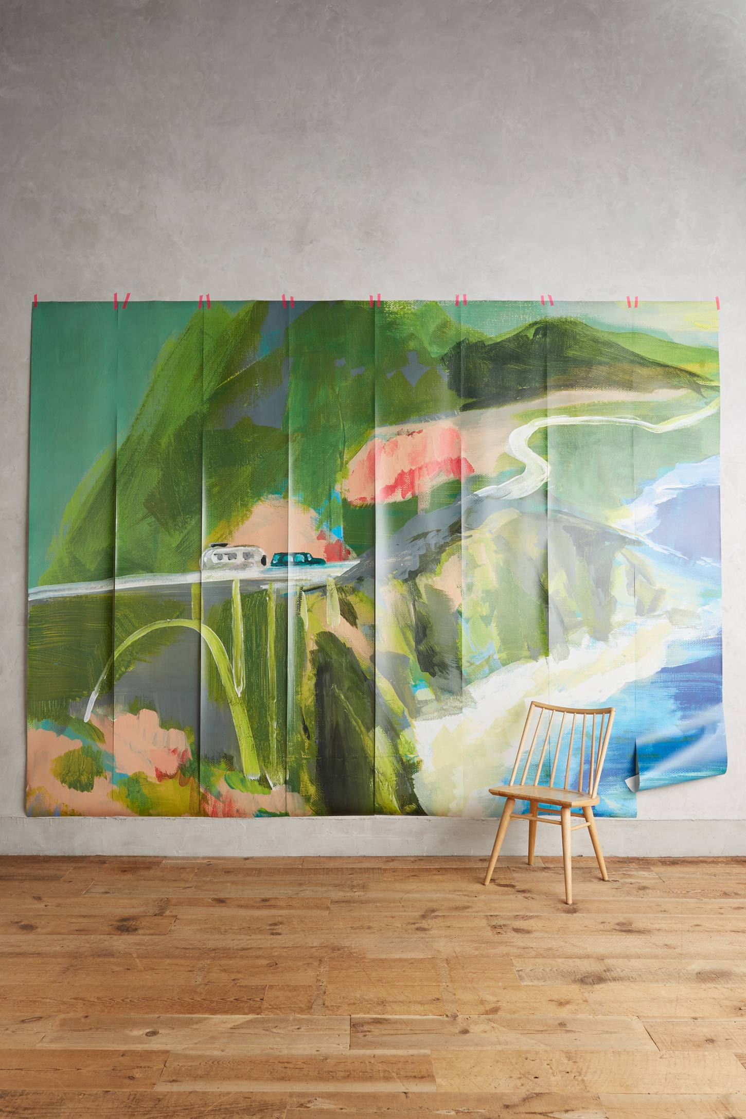 Slide View: 1: Décor mural Passing Countryside