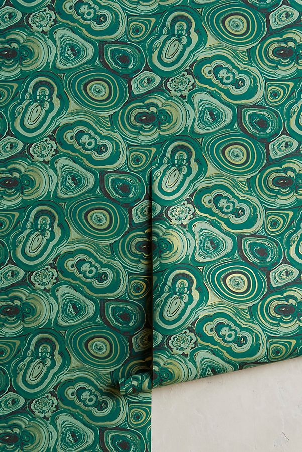 malachite wallpaper anthropologie