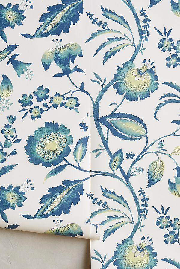 Slide View 1 Jacobean Floral Wallpaper