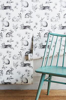 Slide View: 2: Toile Lapin Wallpaper