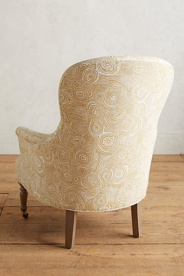 Slide View: 2: Malachite-Printed Parker Chair