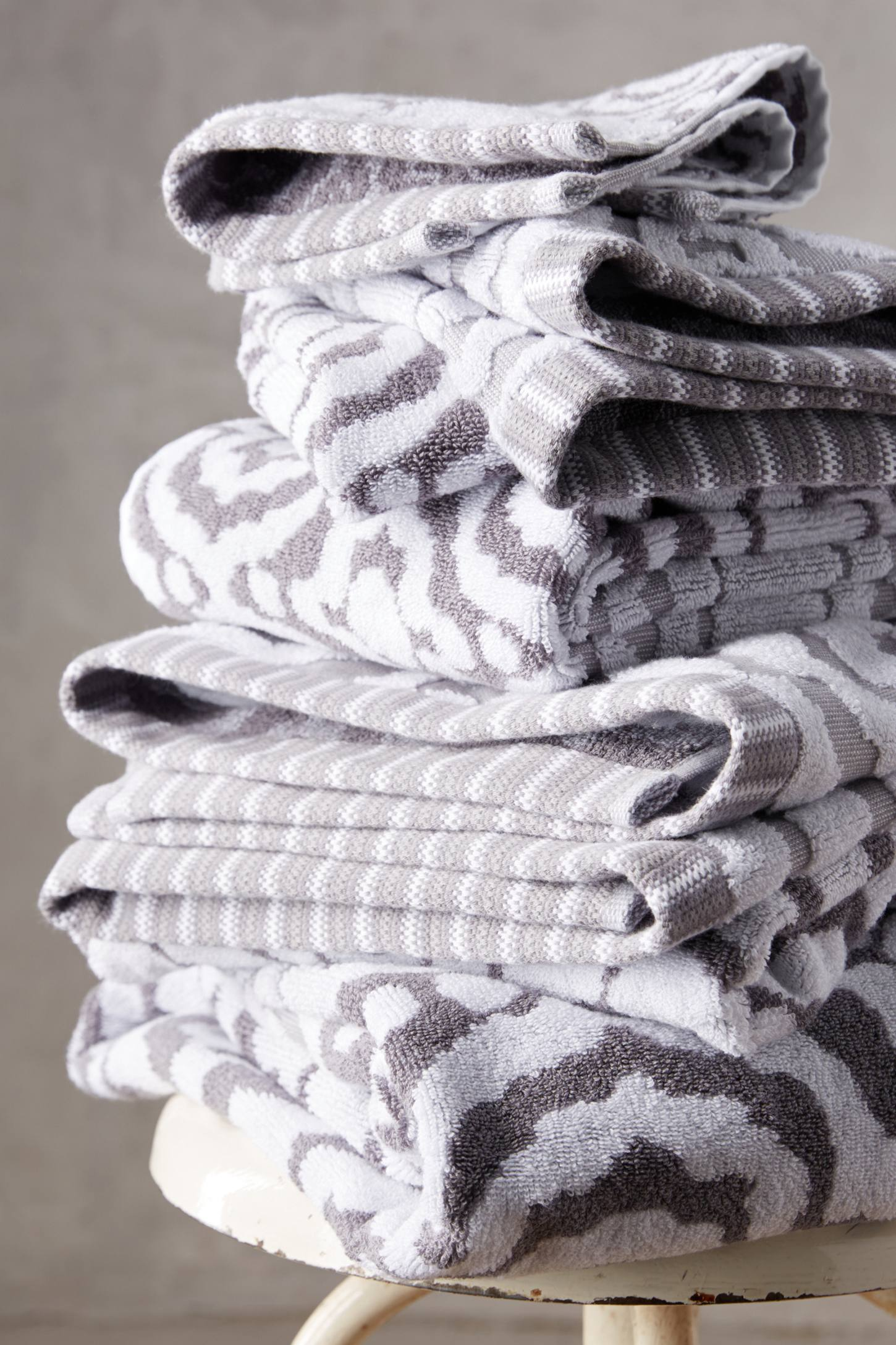 Slide View: 1: Yarn-Dyed Ruana Towel Collection