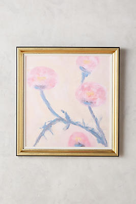 Slide View: 1: Pink Rose Wall Art