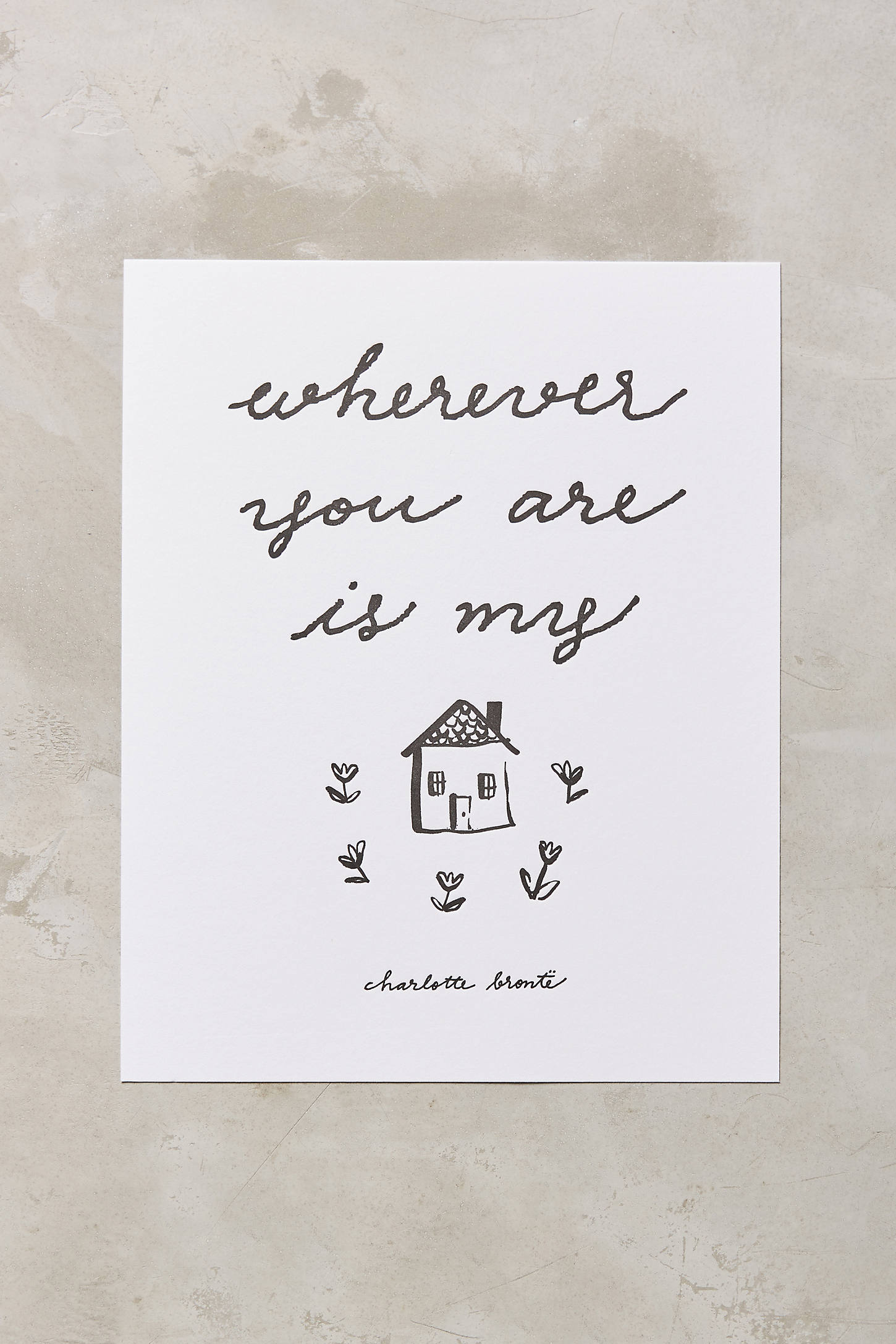 You Are Home Print