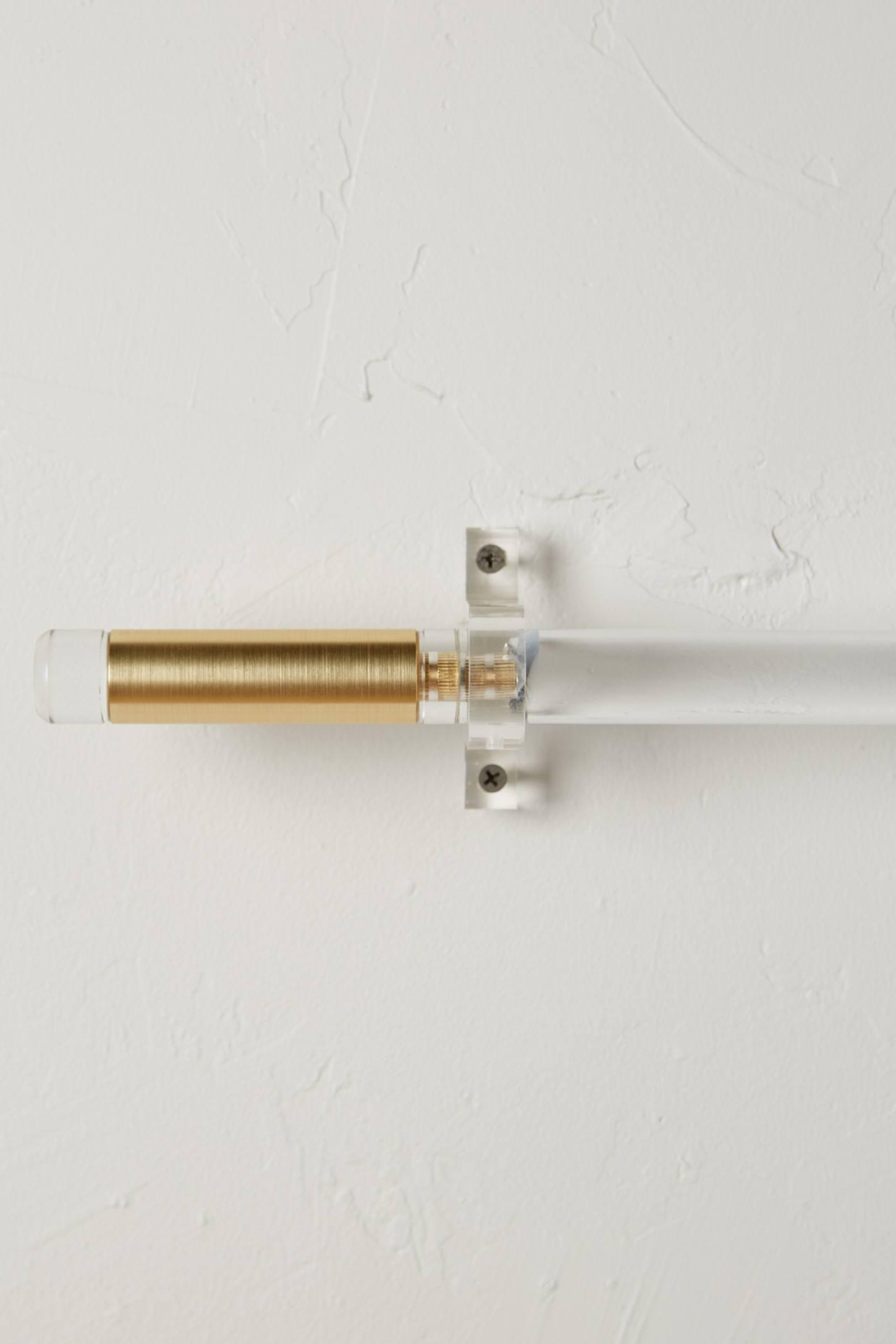 Acrylic curtain rod - Brass Acrylic Curtain Rod Set
