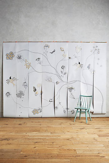 Art wall d cor anthropologie for Anthropologie wall mural
