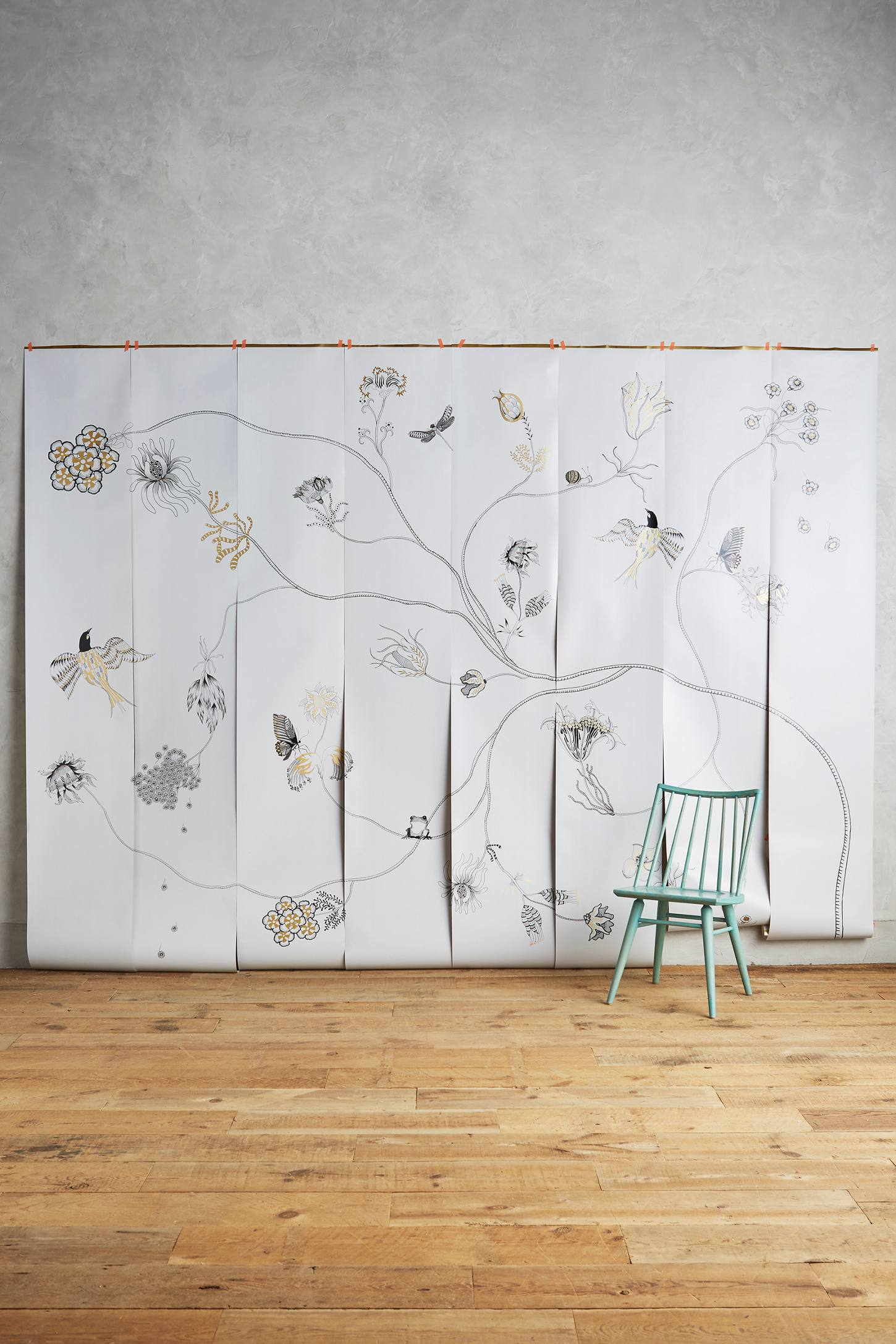 Harmony branch mural anthropologie for Anthropologie mural