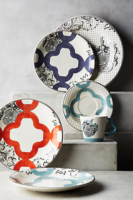 Slide View: 2: Gien Allure Armoiries Dinner Plate