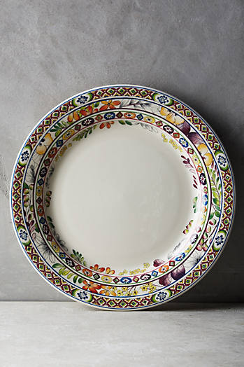 Slide View: 1: Gien Bagatelle Dinner Plate