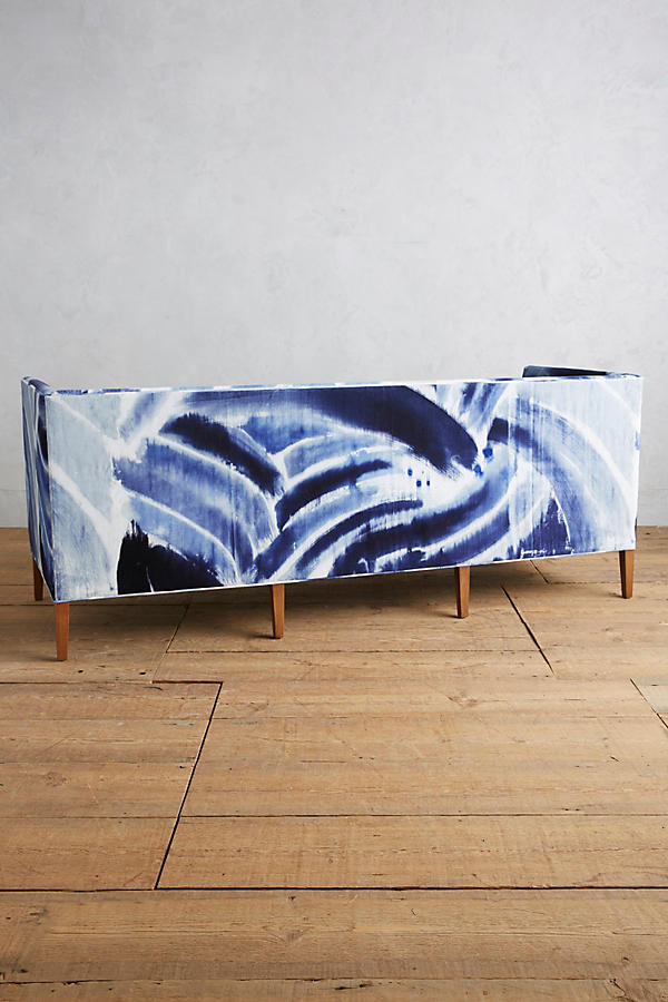 Slide View: 2: Shibori-Printed Harper Sofa