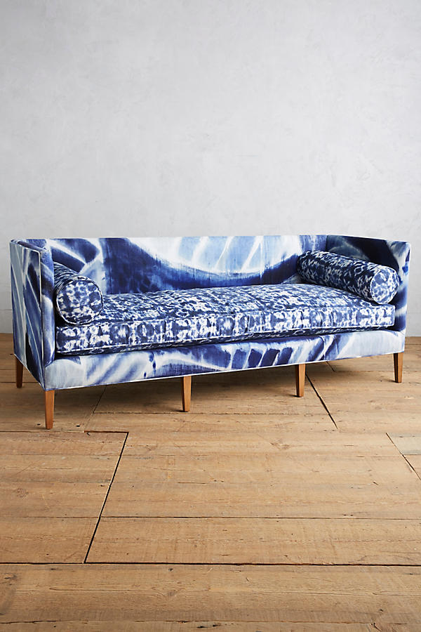 Slide View: 1: Shibori-Printed Harper Sofa