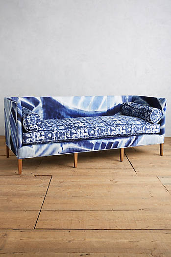 shibori printed harper sofa anthropologie style furniture