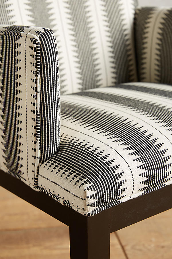 Slide View: 3: Suren-Striped Emrys Armchair