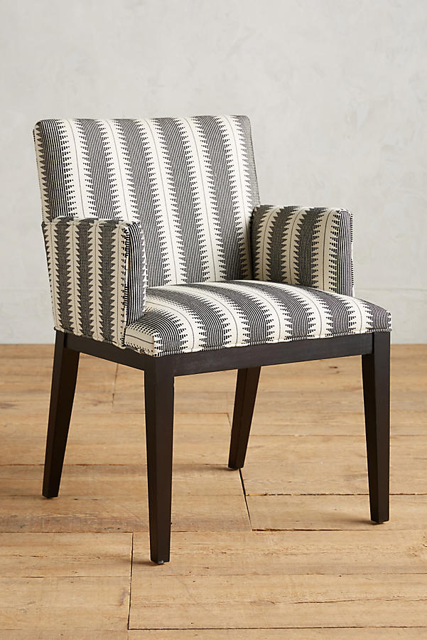 Slide View: 1: Suren-Striped Emrys Armchair