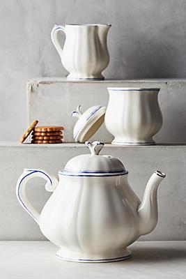Slide View: 2: Gien Filet Bleu Teapot