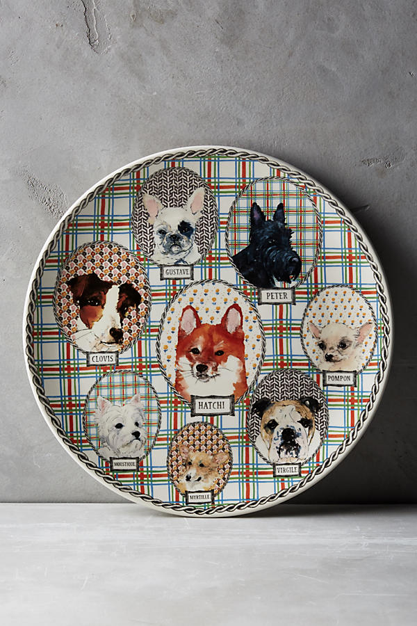 Slide View: 1: Gien Darling Dog Cake Platter