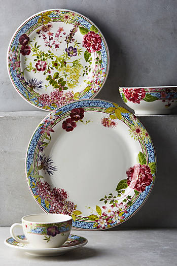 Slide View: 2: Gien Millefleurs Dinner Plate