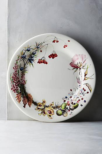 Slide View: 1: Gien Bouquet Dinner Plate