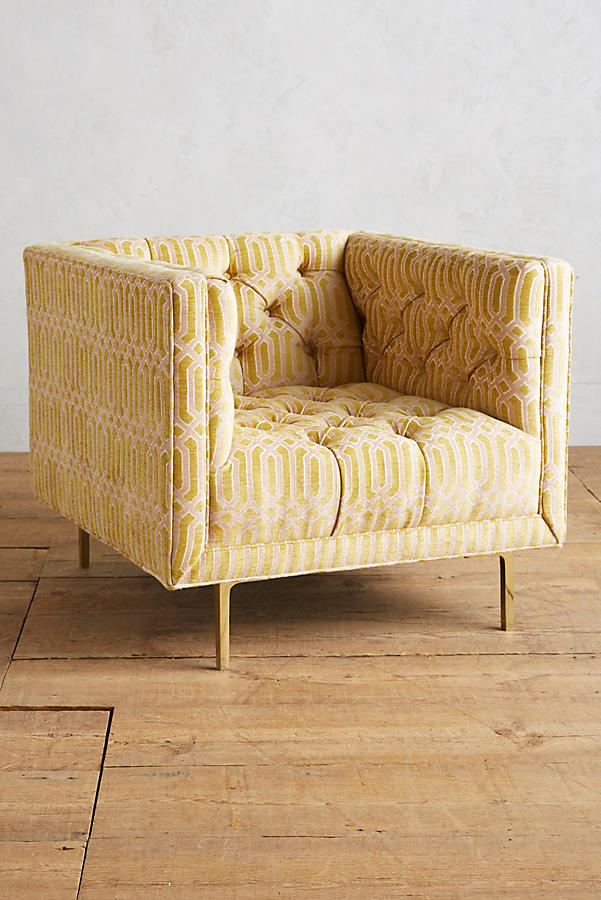 Slide View: 1: Trellis-Woven Mina Chair