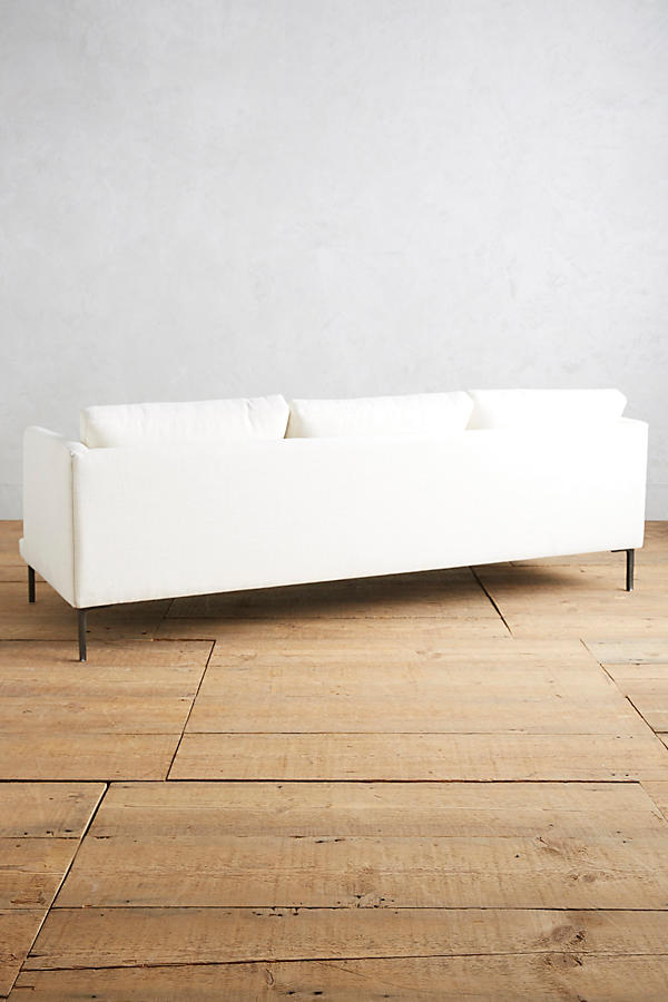 Slide View: 4: Basketweave Linen Linde Sofa
