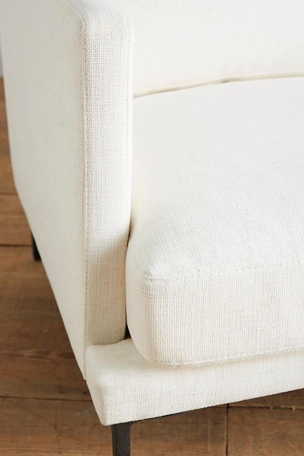 Slide View: 5: Basketweave Linen Linde Sofa