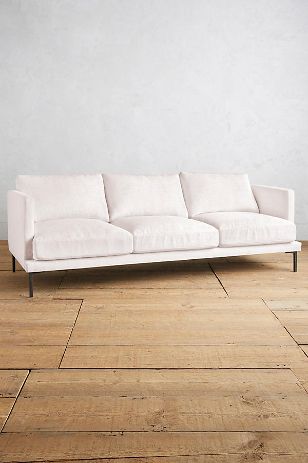 Slide View: 1: Basketweave Linen Linde Sofa