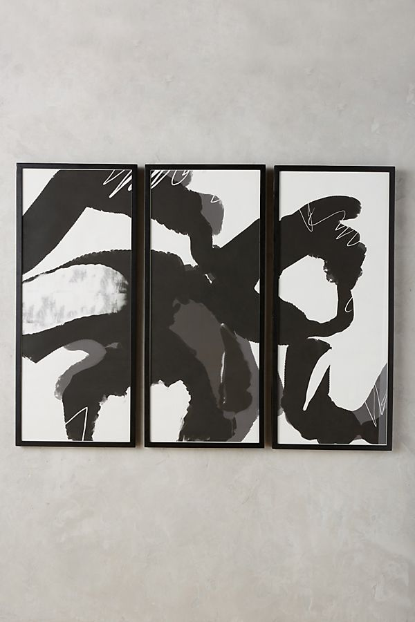 Slide View: 1: Ink Movement Triptych