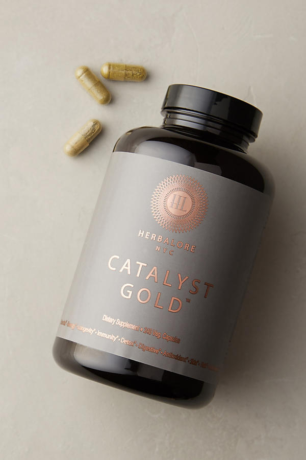 Slide View: 1: Capsules Catalyst Gold Herbalore NYC
