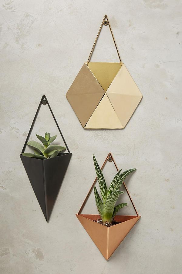 tin wall planters