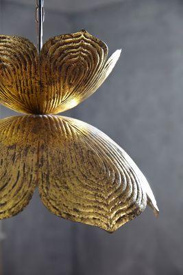 Brass Lotus Pendant Anthropologie