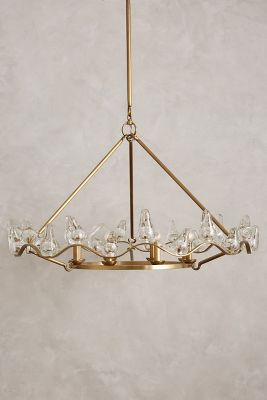 Winged Glass Chandelier Anthropologie