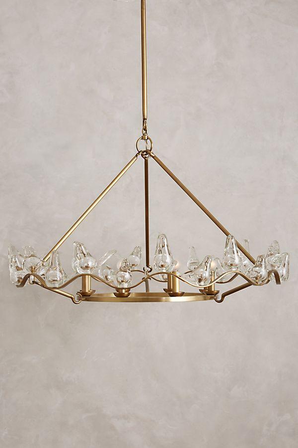 Winged glass chandelier anthropologie slide view 1 winged glass chandelier aloadofball Images