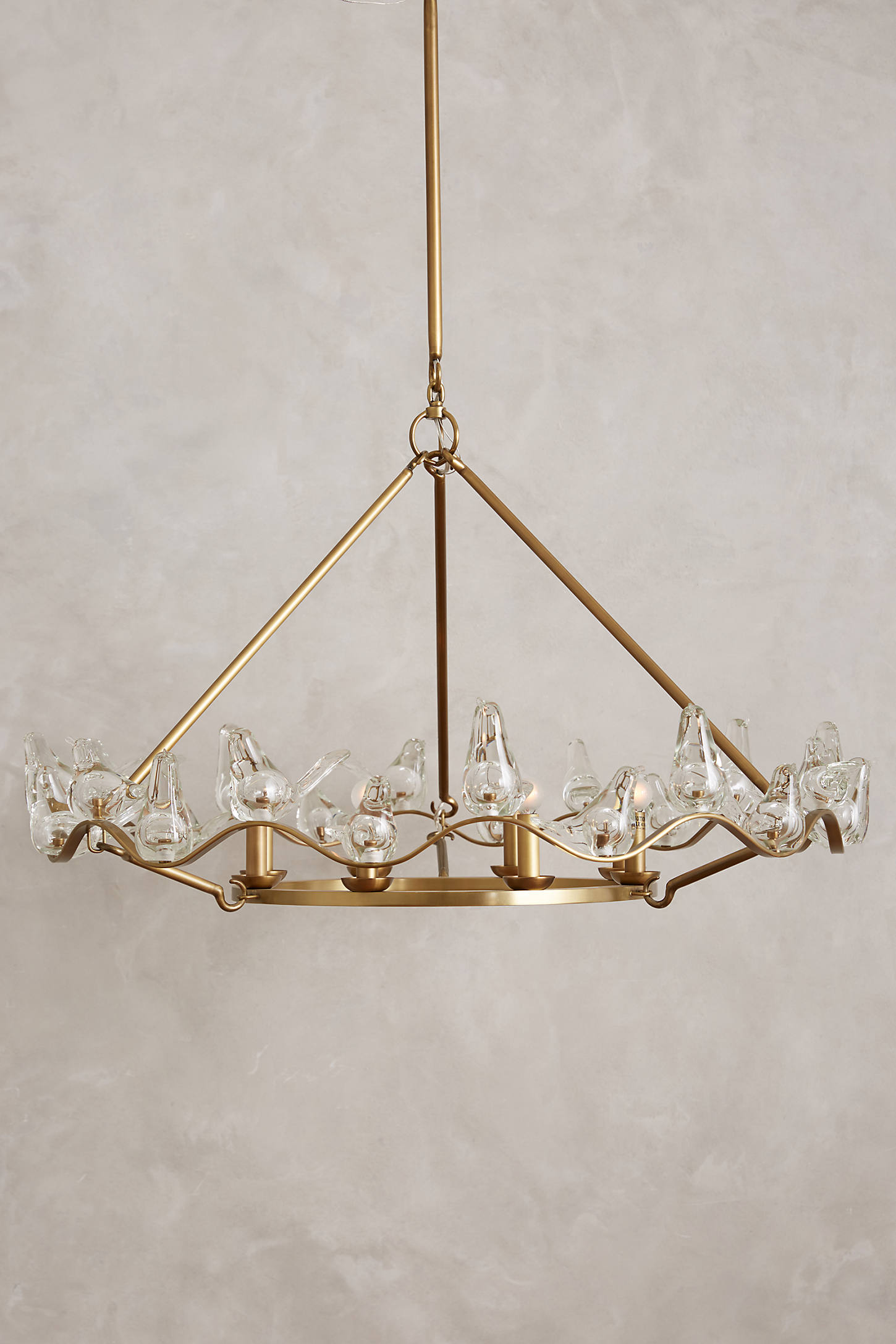 Winged Glass Chandelier