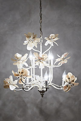 Slide View: 3: Pearled Magnolia Chandelier