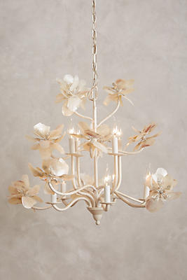 Pearled Magnolia Chandelier