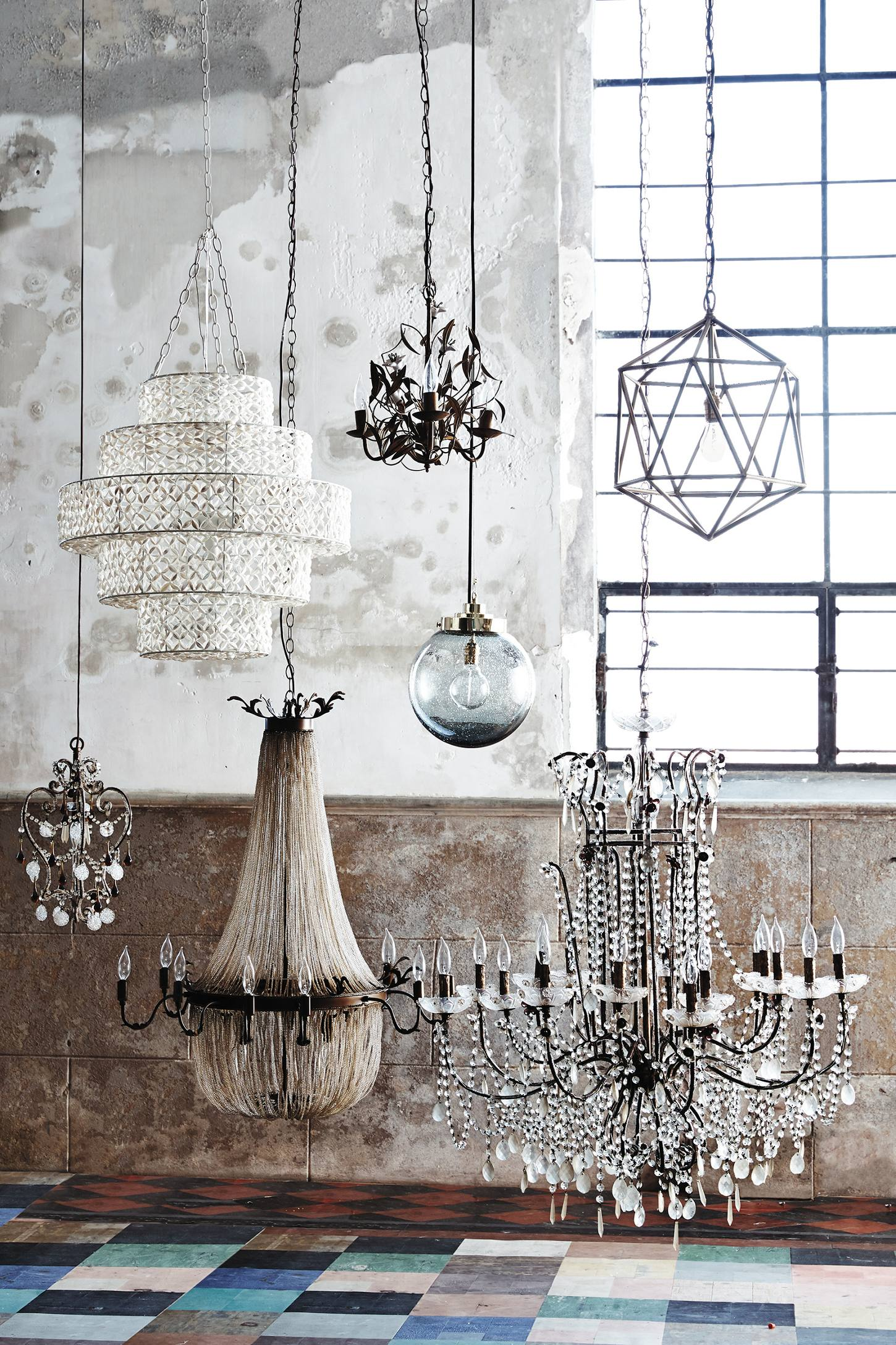 Slide View: 8: Draped Bijoux Chandelier