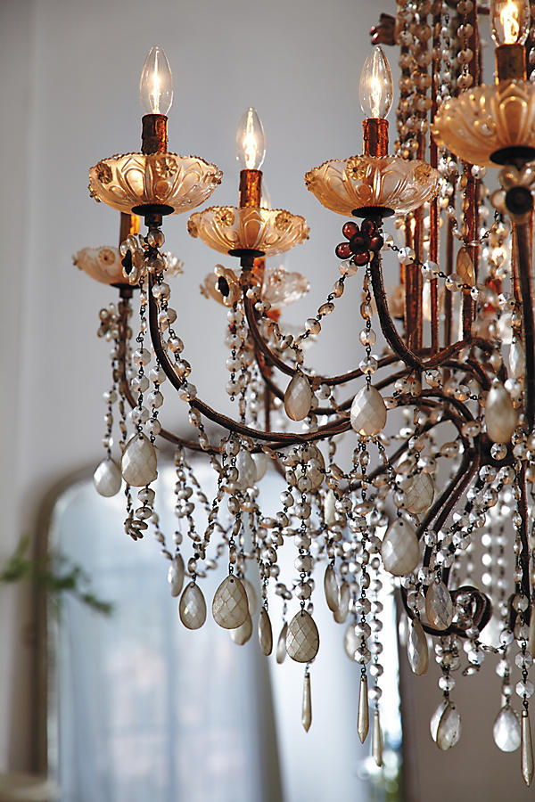 Slide View: 6: Draped Bijoux Chandelier